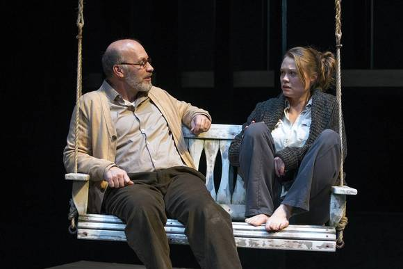 "Kevin Gudahl and Chaon Cross in David Auburn's ""Proof"" at Court Theatre."