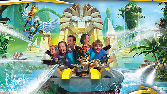 Concept art of Quest for Chi interactive boat ride coming to Legoland Florida.