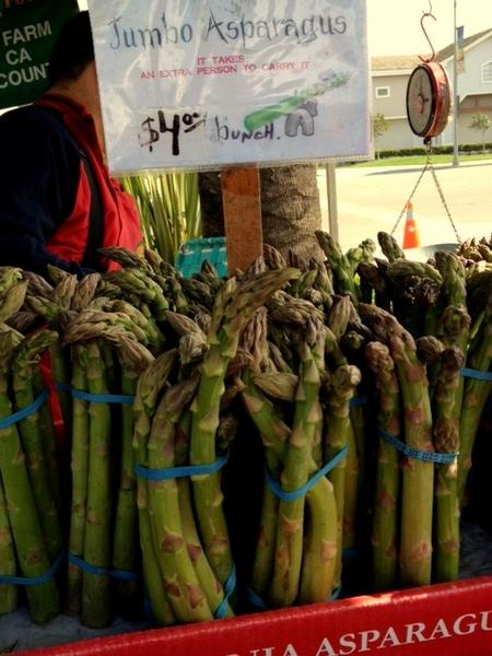 Jumbo asparagus at Zuckerman Farms.
