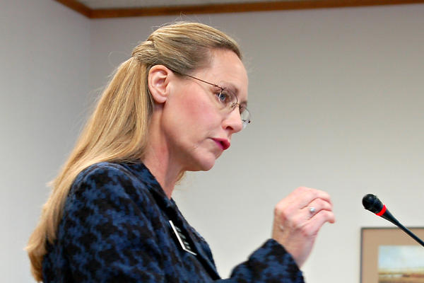 Rep. Bette Grande (R-Fargo) testifies before the House Human Services Committee in Bismarck, N.D. on Jan. 31. The North Dakota Senate approved two anti-abortion bills on March 15.