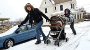 Thundersnow was heard in Somerset County Monday as part of a storm that resulted in dozens of weather-related incidents.