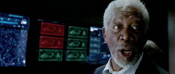"Morgan Freeman stars as Speaker Trumbull in ""Olympus Has Fallen."""