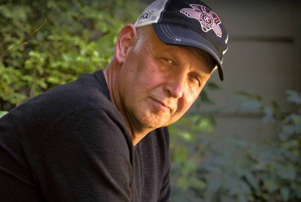 Character actor Nick Searcy at his home in Barbank.