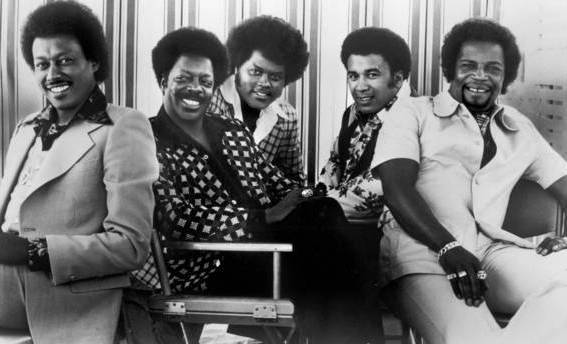 The Spinners: Bobbie Smith, far left, Henry Fambrough, John Edwards, Billy Anderson and Pervis Jackson.