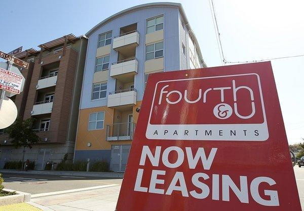 California is the second-most expensive state for rental housing, a new report says. Above, apartments are available in 2012 in Berkeley.