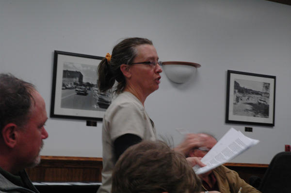 Cyndi Kramer, market master for the Harbor Springs Farmers Market and director of Farming For Our Future, discusses the benefits of the farmers market operating under the umbrella of the nonprofit at Monday's Harbor Springs city council meeting,