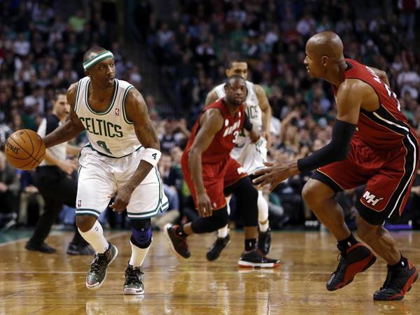 "<h2>Jason Terry</h2> <p><i>National Twitter, Google Trends</i></p> <p><b>Why:</b>In the second quarter of Monday's game between the Celtics and Heat, LeBron James postered Jason Terry. After a turnover, Norris Cole lobbed to LeBron and all that was left standing between him and the rim was Terry. To which LeBron brushed aside as he hammered down a one-handed dunk. LeBron was hit with a technical foul for taunting following the play but really, that dunk was pretty much one big taunt. Taunt away, Bron. [ <a href=""http://www.cbssports.com/nba/blog/eye-on-basketball/21906864/video-lebron-james-posters-jason-terry"" target=""_blank"">CBS Sports</a>]</p><br>"