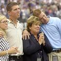 The Unitas family at the pre-game tribute to John Unitas