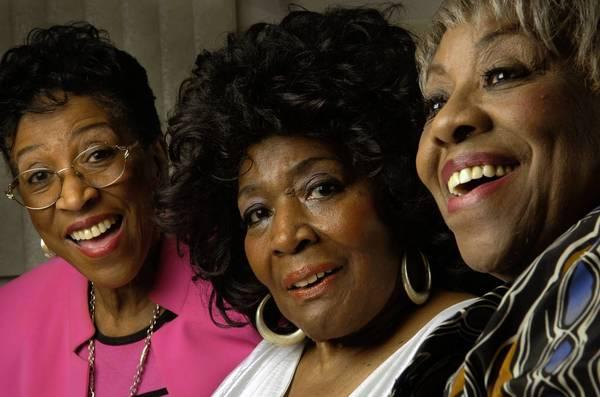 DeLois Barrett Campbell -- leader of the legendary Barrett Sisters gospel trio -- with her her sisters, Billie Barrett Green Bey (left) and Rodessa Barrett Porter (right).