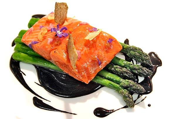 Wild red king salmon