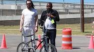 SXSW 2013 Day 5: Andrew WK  teaches Ernest how to ride a bike