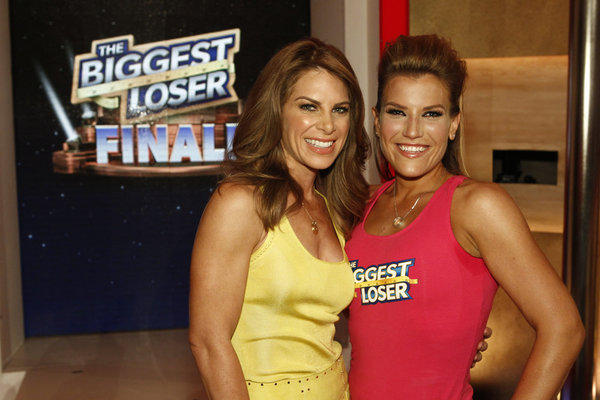 Jillian Michaels, left, and Danni Allen celebrate victory.