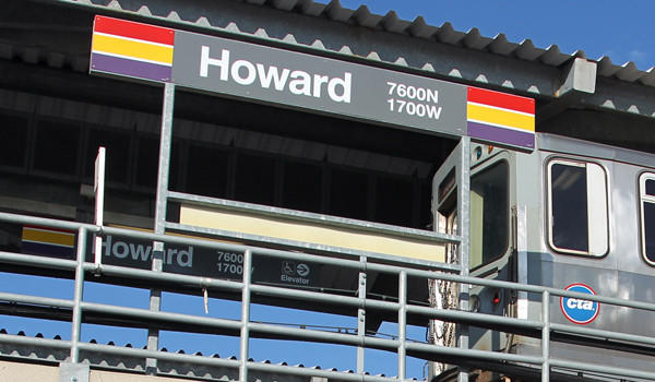 """The Howard Red Line """"L"""" station in 2011."""