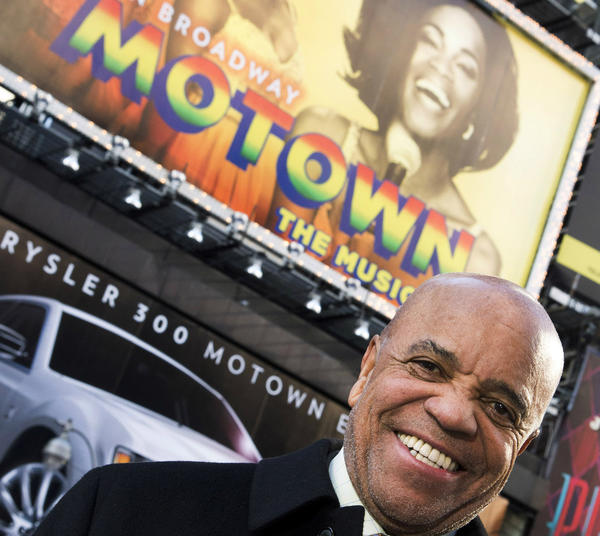 "Motown founder Berry Gordy at the Lunt-Fontanne Theatre in New York, which is featuring ""Motown: The Musical."""