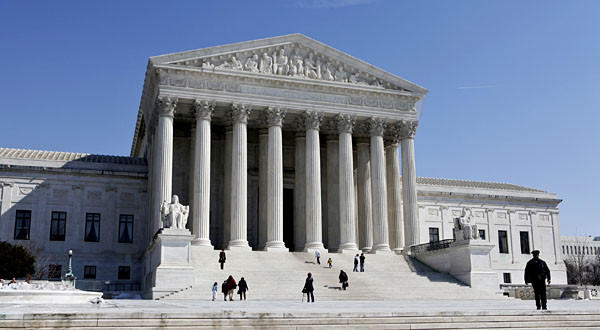 The U.S. Supreme Court building in Washington.