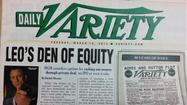 Hold onto your Tuesday copy of Daily Variety. It could be worth something one  day.