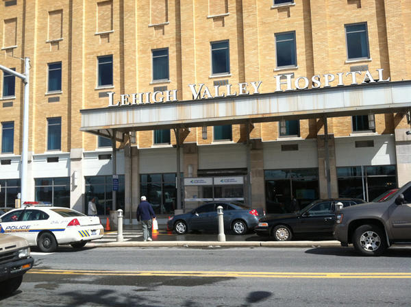Police swarmed Lehigh Valley Hospital's 17th Street campus in Allentown on Tuesday afternoon after a shooting inside.