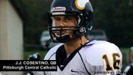 "<span style=""font-size: small;"">Pennsylvania quarterback J.J. Cosentino officially became the seventh commitment to Florida State's 2014 recruiting class Monday when he announced his choice via Twitter.</span>"