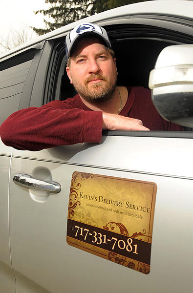 Kevin Kennedy opened Kevin's Delivery Service on Feb. 1 in Waynesboro, Pa.