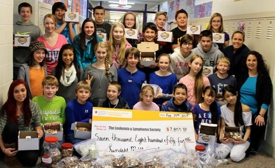Crystal Lake Middle School Students Raise $8,000 To Fight Cancer