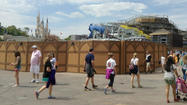 Picture: Construction of Seven Dwarfs Mine Train at Disney's Magic Kingdom