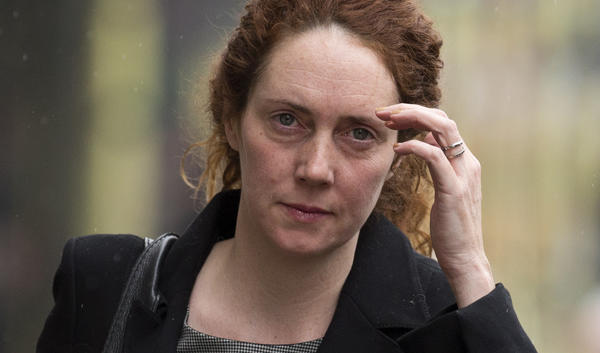 Rebekah Brooks, the former chief of News Corp.'s British newspapers, arrives for a court hearing in London this month in her case stemming from the company's phone-hacking scandal.