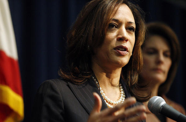 California Attorney General Kamala D. Harris , left.