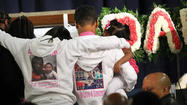 Mary Young looked out at the hundreds of people who had packed into New Beginnings Church of Chicago to say goodbye to 6-month-old shooting victim Jonylah Watkins.