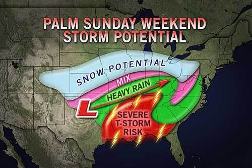 Palm Sunday storm