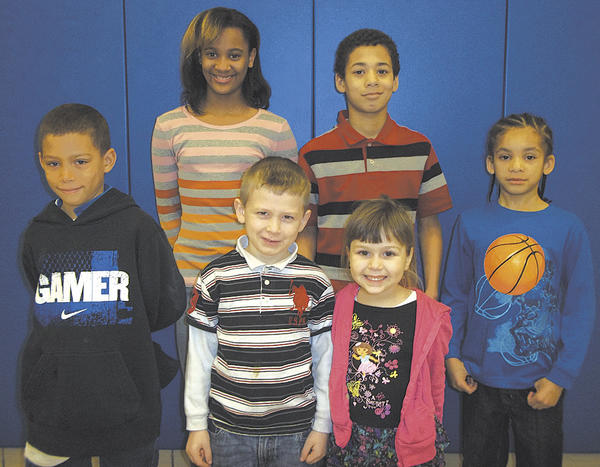 Winter Street Elementary School named its Star Athletes for February. Row one, from left, Manny Black, Danny Cohen, Katie Brigham and Messiah Gall. Row two, Diamond Burnette and Marcus Hill. Not pictured: Mikey Lavely. Students chosen to be star athletes have great abilities in all physical education activities and sports. The students always try their best, have a good attitude, show good sportsmanship to others, are always respectful and responsible.