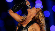 Beyonce performing at Super Bowl XLVII