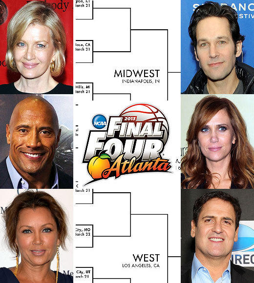 Celebrity March Madness 2013: Famous alumni and attendees of NCAA tournament schools: As the 2013 edition of March Madness begins, check out the famous folks who have graduated from, or at least attended, all 68 schools in the NCAA mens tournament field.  Will this information help you fill out your brackets? Probably not. But if Jimmy Kimmel (UNLV) and Chris Pine (Cal-Berkeley) suddenly get in a Twitter war, youll at least know why.  Related:  More March Madness coverage
