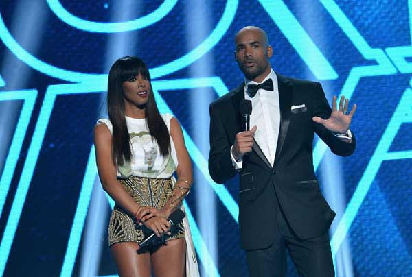 "Kelly Rowland and Boris Kodjoe host BET's ""Rip the Runway 2013."""