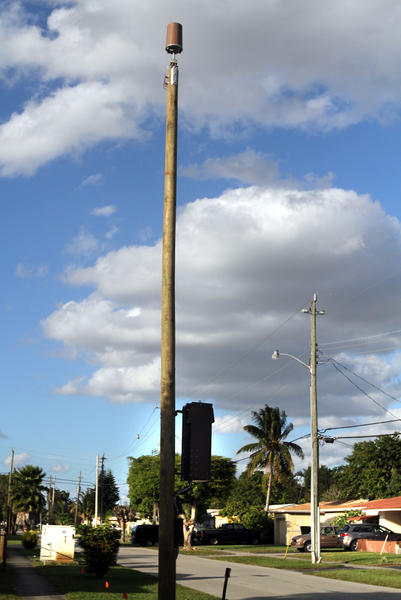 Cell phone antenna structures like this have been popping up across South Florida with little if any notice to neighborhoods.