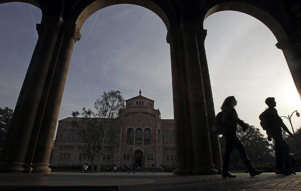 Students at the UCLA campus.