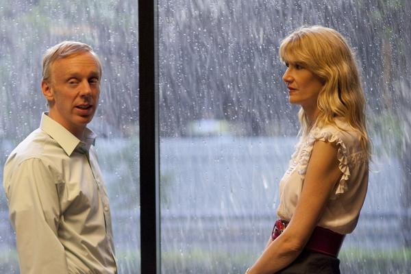 "Scene from the HBO series ""Enlightened."" Photo shows Mike White, left and Laura Dern. Photo credit: Prashant Gupta/HBO"