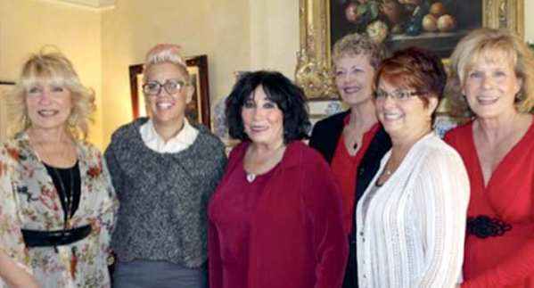 La Providencia Guild of Children's Hospital Los Angeles welcomed new members during a tea in February at the Burbank home of Marcia Baroda. They are, from left, DeeDee Rowlands, Sandra Kelley, Sophia Macisaac, Sue Meckley, Marsha Floyd and Beth Bowles.
