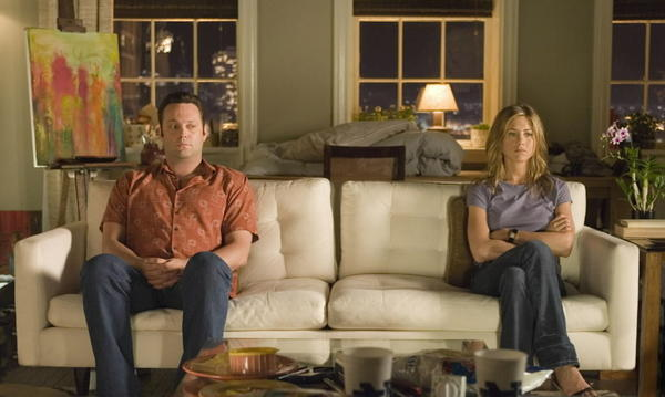 "Vince Vaughn and Jennifer Aniston in ""The Break-Up"""