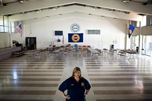 """For UAW Local 2244 member Leticia Quesada, having a union job is everything. """"Some people think we'd be fine without a union,"""" said Quesada, seen standing in the union hall across the street from the New United Motors Manufacturing Inc. plant in Fremont. """"They never worked in a plant without one."""""""