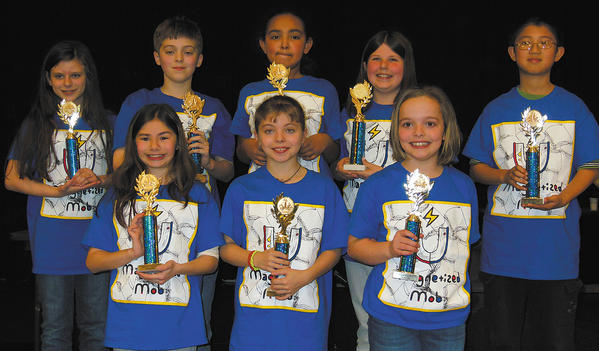 The Boonsboro Elementary School team took first place in Washington County Free Library's annual Battle of the Books competition. Front row, from left, Gina Gabianelli, Marianna Lawrence and Maggie Mathews. Back row, Alex Gibson, Connor Lawrence, Melanie Carter, Claire Seibert and Christopher Li.