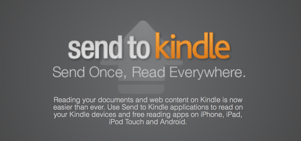 Amazon on Wednesday announced Send to Kindle, a way for users to quickly save news articles and send them to their Kindle devices for later, off-line reading.