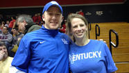 MOON, Pa. - For Kentucky fans Sarah and Ryan Reynolds, there's no complaining about the Wildcats playing Robert Morris on Tuesday in the NIT.