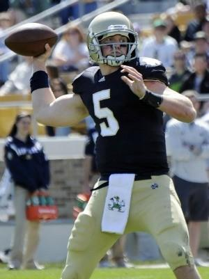 Gunner Kiel won't be playing for Notre Dame next season.