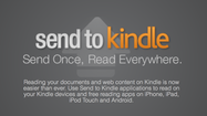 Amazon.com has introduced a way for users to quickly save and send news articles as well as other items to their Kindle devices for later, off-line reading.