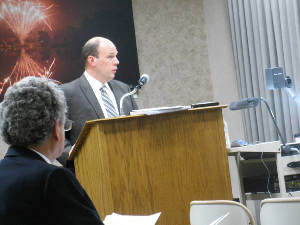 Glen Ellyn Finance Director Kevin Wachtel updated council on the village's finances during Monday night's budget workshop.
