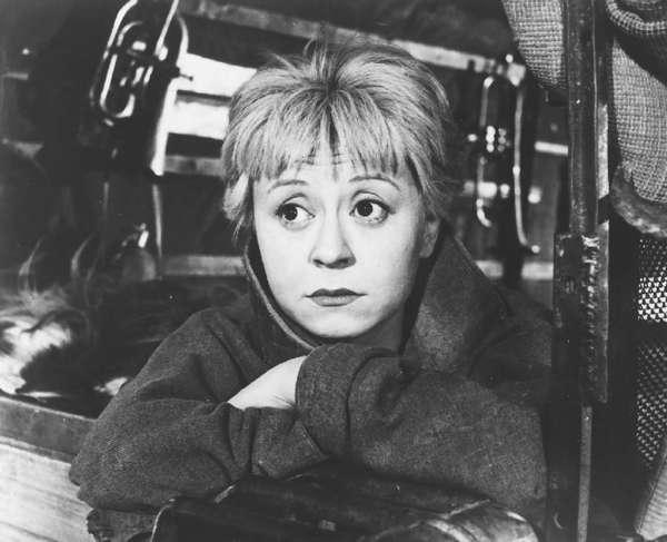 "Federico Fellini's Oscar-winning masterpiece ""La Strada"" stars his wife, Giulietta Masina."