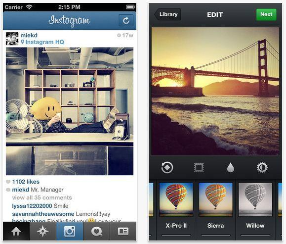 "Instagram is one of the most popular apps for two reasons: It's a fun social network and a great photo-taking app. The app's filters can pretty much make any picture look decent or at the very least artistic, and with big bold pictures that can be quickly ""liked,"" the social network is perfect for users on the go."
