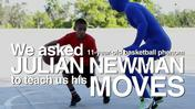 Basketball phenom Julian Newman tries to teach us his moves