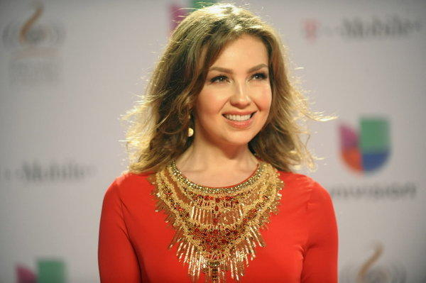 "Singer Thalia arrives at Univision's ""Premio Lo Nuestro A La Musica Latina"" Feb. 21, 2013 in Miami, Florida."