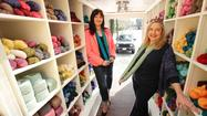 Inside the new Yarnover Truck, a knitters store on wheels